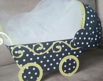 Baby Shower Centerpiece- Baby Carriage - POLKA DOT