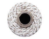 Copper Metallic Baker's Twine - 15 Yards - The Twinery / Craft Cotton String Yarn Striped Divine Shimmer Glitter Natural White DIY Wedding