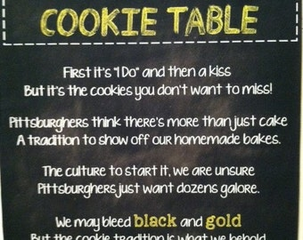 Wedding Sign-Pittsburgh Cookie Table