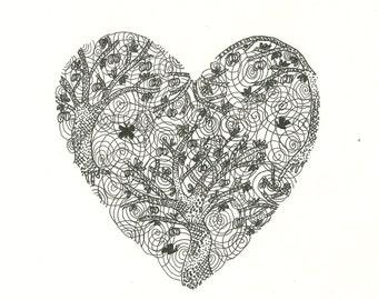 "Valentines card - ""Tree Heart"""