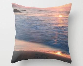 Velveteen Pillow - Ocean Pillow - Beach Pillow - Pastel Pillow - Ocean Decor - Beach Decor - Beach House Pillow - Beach Cushion - Pastel