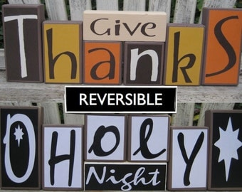 Give Thanks O Holy Night reversible block set