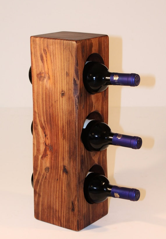 Reclaimed Wood Wine Rack Small Wine Bottle Holder