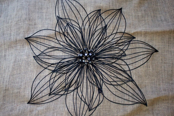 Black Wrought Iron Floral Wall Art By Ilovevintage13 On Etsy
