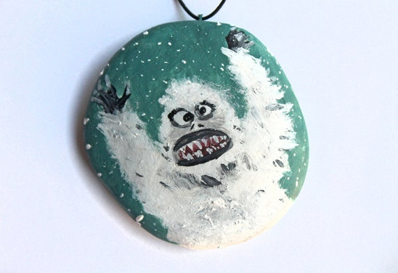 Christmas ornament handmade holidays abominable by for Abominable snowman christmas decoration