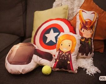 Thor Hammer Mjolnir Pillow Cushion Plush Throw Vintage Style