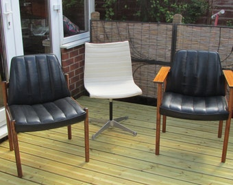 Four Danish 3001 X Chairs by Sven Ivar Dysthe in rosewood and leather Mad Men!