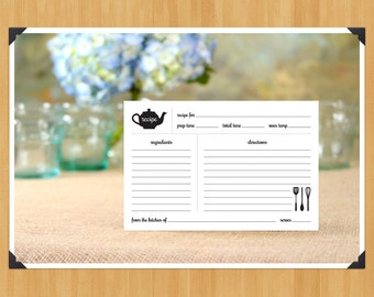 Printable Rustic Recipe Cards and Dividers, DIY, Instant Download, Printable PDF