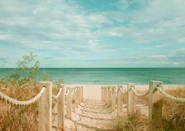 Sand Dune Fence Photograph Beach Path To Atlantic Ocean Art