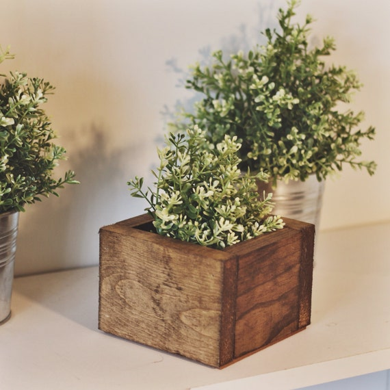 Rustic flower box wedding centerpiece x by