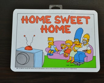 NOS The Simpsons Poster Simpsons Family Wall Hanging Plastic Mini Poster Bart Simpson Home Sweet Home Many Styles and Designs Available New