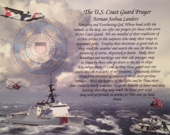 Gift for US Coast Guard Prayer Father's Day Birthday Husband Dad Son Brother Daughter Wife Sister Veterans Day Retirement Graduation