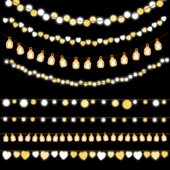 String light Clipart Party lights Holiday by Anietillustration