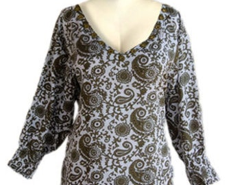 Women's Plus Size Top   Cotton Longer Sleeves   Plus Size 2x, 3x XXL, XXXL