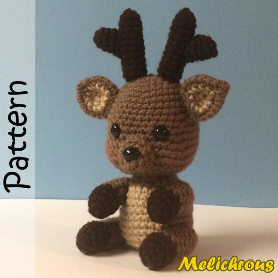 Rudy the Reindeer Pattern Crochet Amigurumi PDF