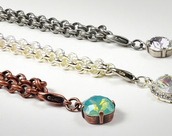 ROUND LOOP Pendant Rolo CHAIN Custom Size, Length, and Finish - Made to Order *Free Shipping *Karnas Design Studio*