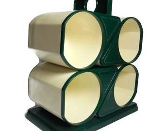 Charwood Plastic Nesting Mugs With Stand Set of 4