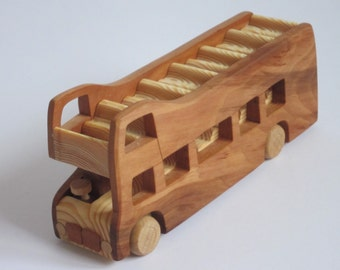London Bus London Bus Double Decker Sigtseeing very rare handmade wood model bus