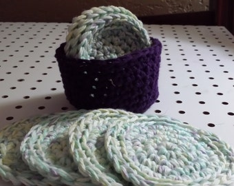 Face Scrubbers (8)/Basket/ or Coasters