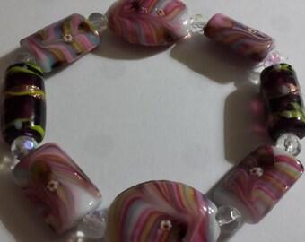 stretch glass bead bracelet