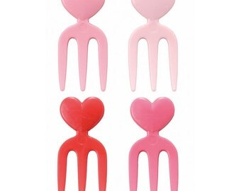 Cute Heart Fork Cupcake Topper & Food Decoration Forks - Made in Japan - Mama's Assist by Torune Bento