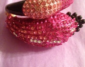 FLAMINGO BRACELET Rhinestones/Crystals Jewelry Accessories Pinks Trend Art Deco - couturegps