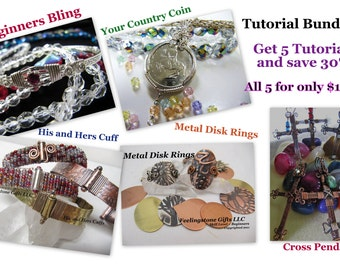 Holiday Sale 40% off/Tutorial Bundle 1,Instant Download  5 PDF File, Wire Wrapping, Metal Working, Beads, Beginners