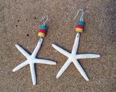 starfish rasta earings handmade