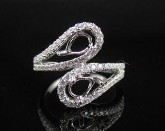 FYR-08060Engagement ring/ Semi-mount ring/14k gold ring/diamond jewelry
