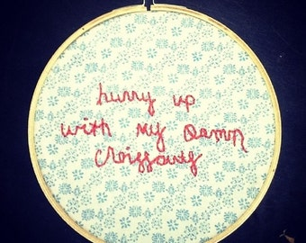 Custom Quote Embroidery Hoop Gift Ideas Wall Decor Hoop Art