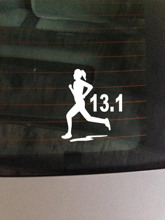 13 1 marathon girl decal vinyl window decal sticker for 13 1 window sticker