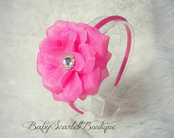 Pink Flower Baby Hard Headband,Girl Hard Headband