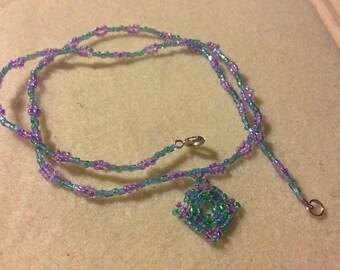 Beaded Necklace Kit, Beadwork Geometric Style Beginner / Intermediate Seed Bead Kit