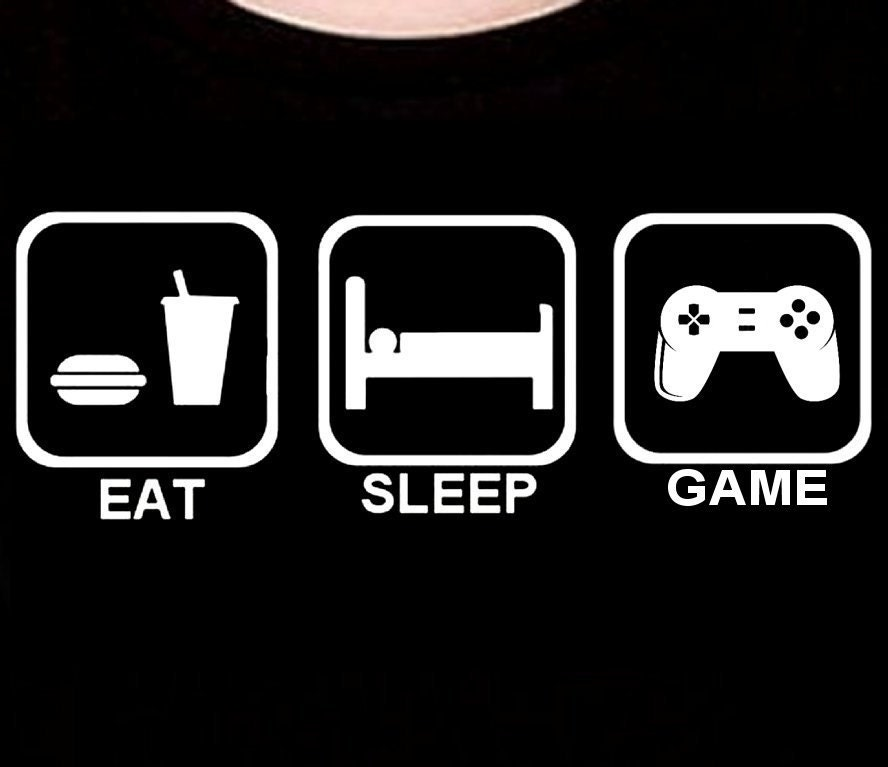 Funny Eat Sleep Video Games T-Shirt Gift Birthday Present