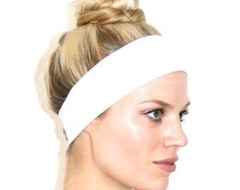 The Yoko Organic White Jersey Headband - by I'm With The Band Headbands