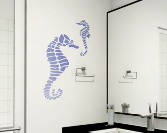 Seahorse Stencil Large size Stencils even better than wall decals DIY decor