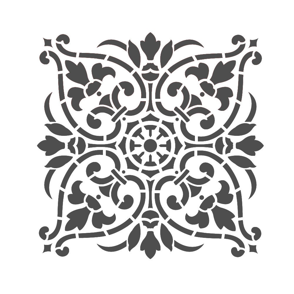 Large Wall Stencils Damask Stencil DIY Reusable Pattern Decor