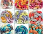 Custom Dyeing - choose your own colourway and fibre base to create your own roving for spinning or felting, hand dyed, hand painted