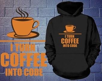 Programmer Mechanism Code Coffee Hoodie Geeky Geek Sweatshirt Gift For Geek Programmer Fleece Sweater