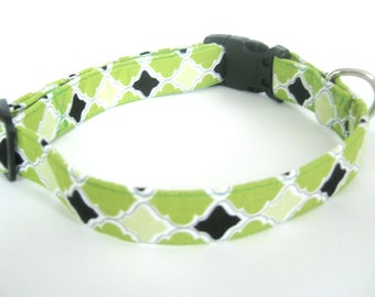 Green Dog Collar Small Medium Large  Adjustable Dog Collar