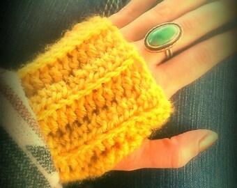 Handmade Crochet Fingerless Gloves (((free shipping)))
