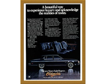 "1981 Oldsmobile Car Color Print AD / The new Ninety-Eight Regency / 6"" x 8"" / Original Print Ad / Buy 2 ads Get 1 FREE"
