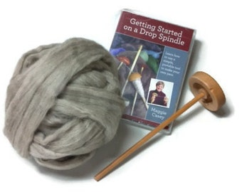 Drop Spindle Kit, Includes DVD and Fiber!