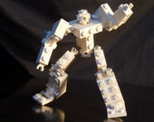 Custom Designed Lego Articulated  Robot Mech Frame / Figure - White