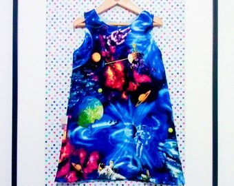 Space Dress Custom play astronaut childrens clothes
