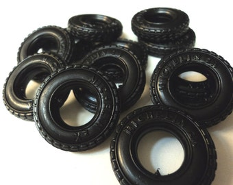 12 pcs of rubber tires steampunk 1/43 scale truck tires michelin