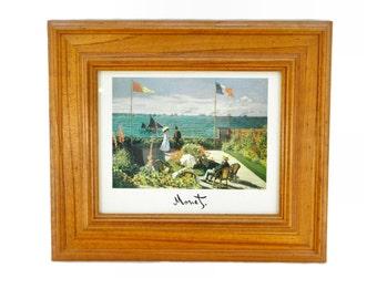 Vintage Framed Terrasse a Sainte-Adresse by Claude Monet