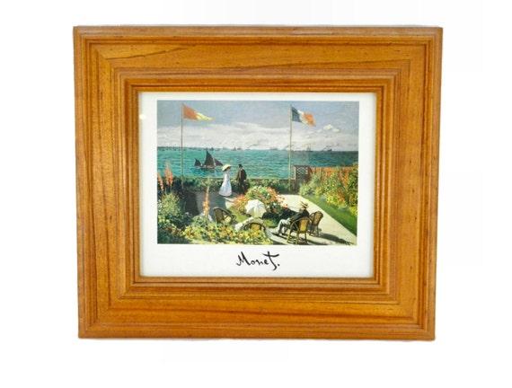Vintage Framed Terrasse a Sainte Adresse by Claude Monet
