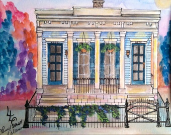 Laurel Street New Orleans Shotgun House