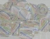 Pastel Rainbow ~ Furnace Art Glass Beads 1/2 oz.